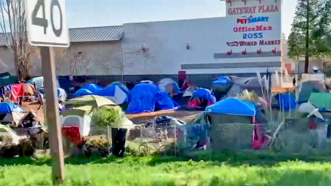 Homeless Camp in Santa Cruz